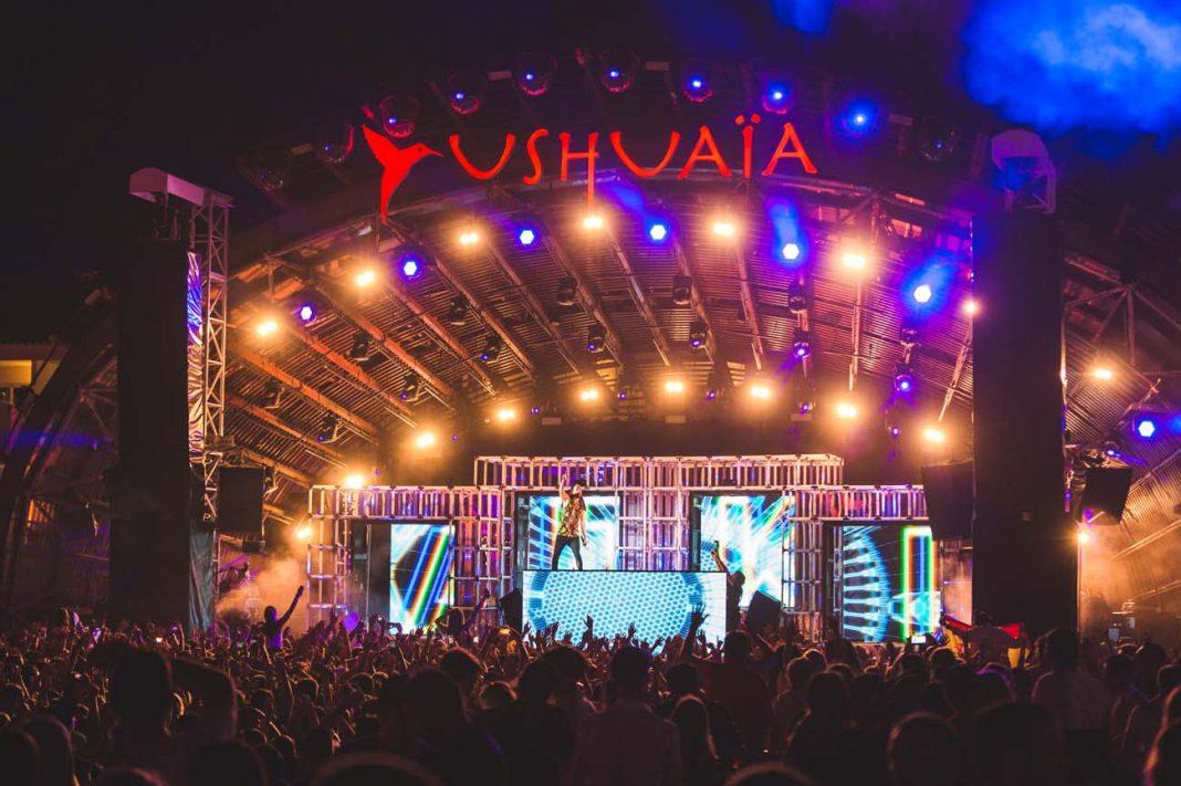 El escenario de Ushuaïa con Neon Future.